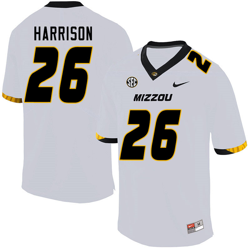 Men #26 Aidan Harrison Missouri Tigers College Football Jerseys Sale-White